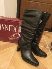 сапоги женские зимние новые,  финские,  на каблуках,  черные р-р 39