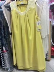Платье дизайнерское,  лимонного цвета. 50,  52,  54 размеры.