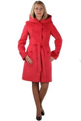 Пальто для стильной женщины,  коралловый цвет