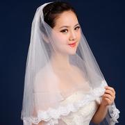 Свадебная фата с кружевом короткая 135 см